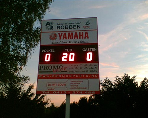 score display voetbal